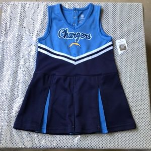 ⚠️Last Chance⚠️ Kids Chargers Cheerleader Dress